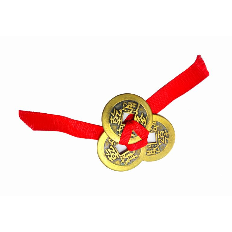 Three Coins on Ribbon