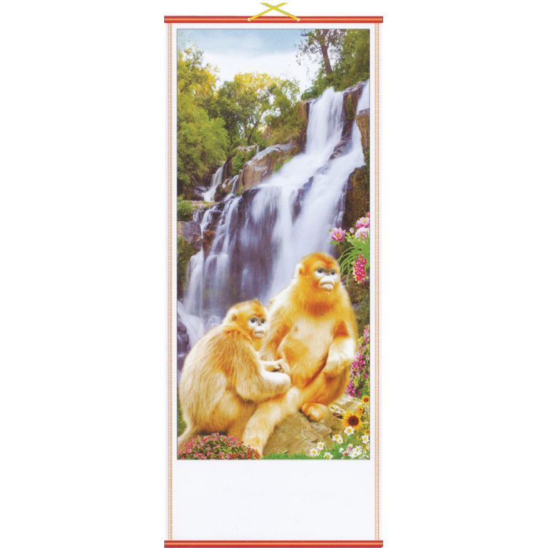 Golden Monkeys Scroll