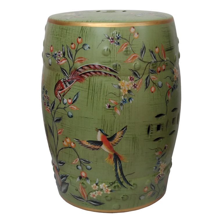 Birds and Flowers Stool
