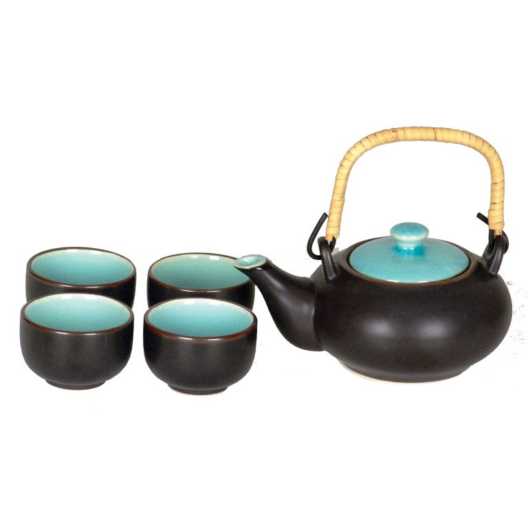 Matt Black Teaset