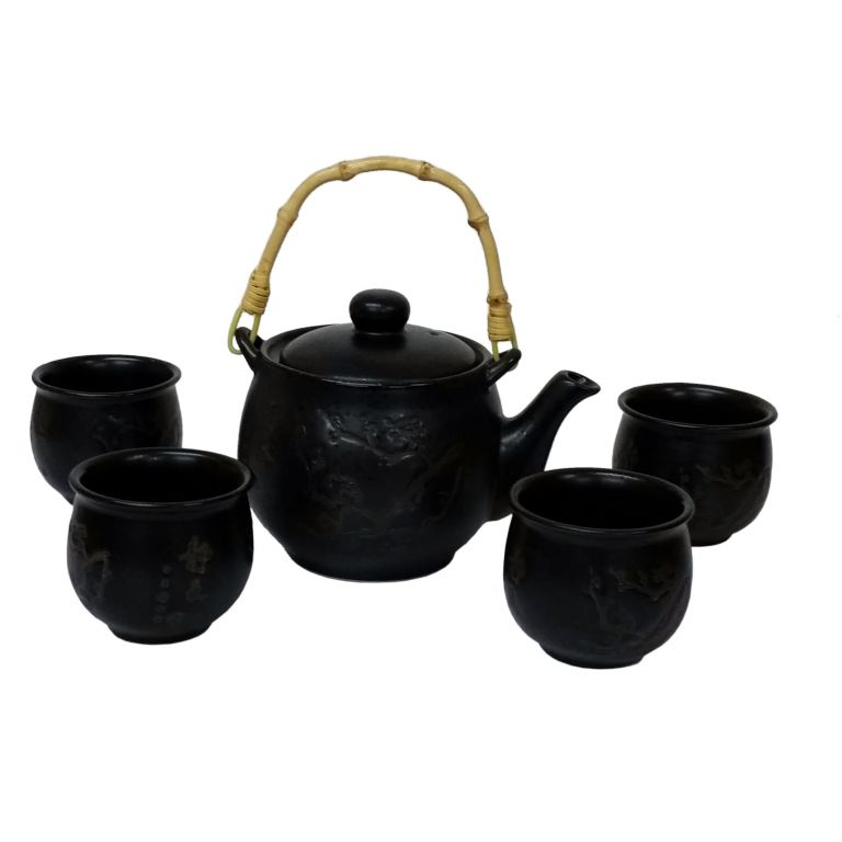 Etched Plum Teaset