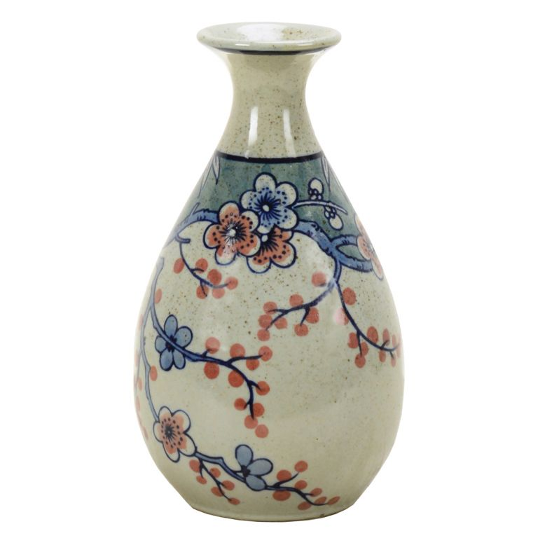Vase in blue and ivory