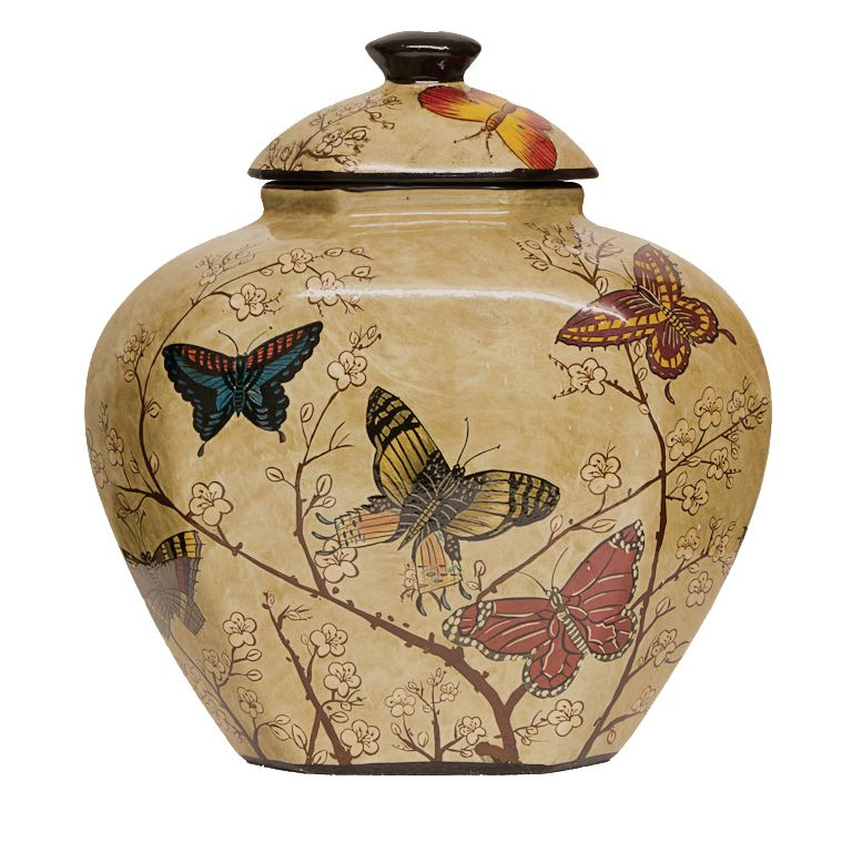 Butterfly and Blossom Pot