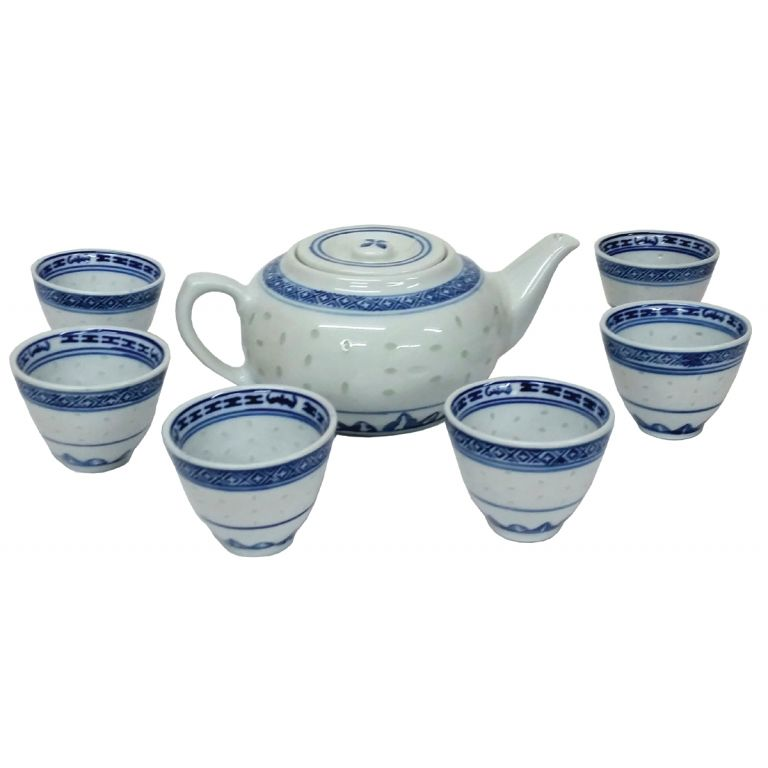 Rice Pattern Tea Set
