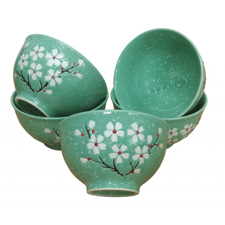 Turquoise Blossom Bowls