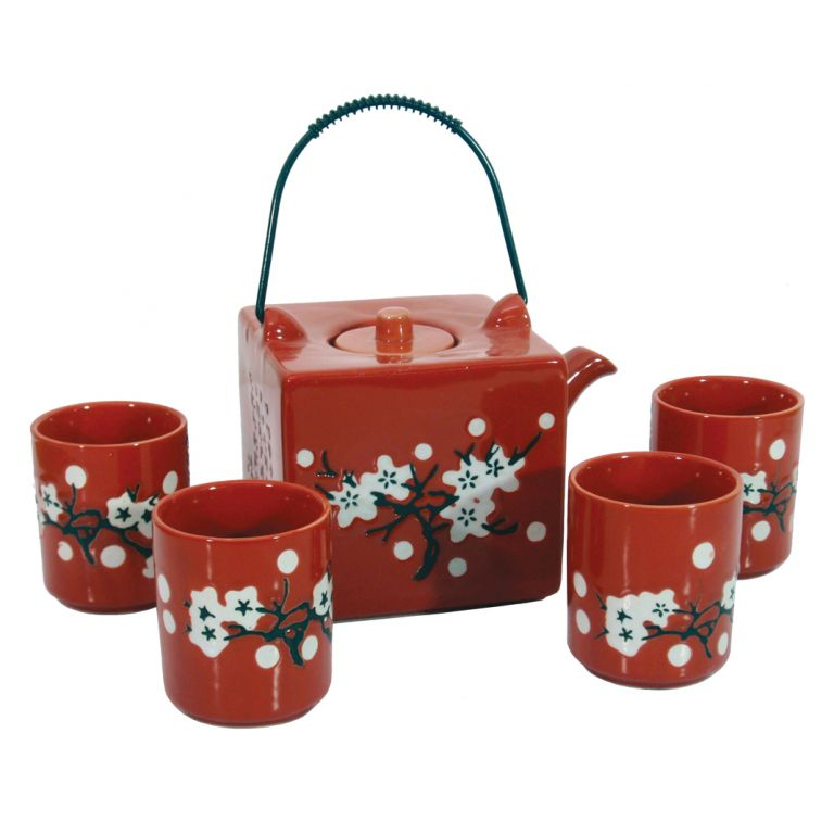 Red Square Cherry Teaset